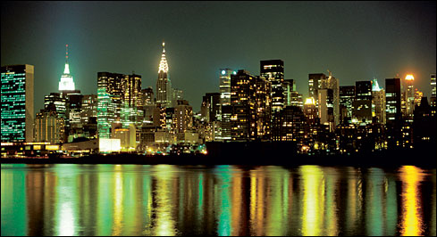 new york city at night skyline. In the shadowlands